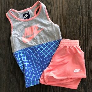 Girls Nike Tank and Shorts Set